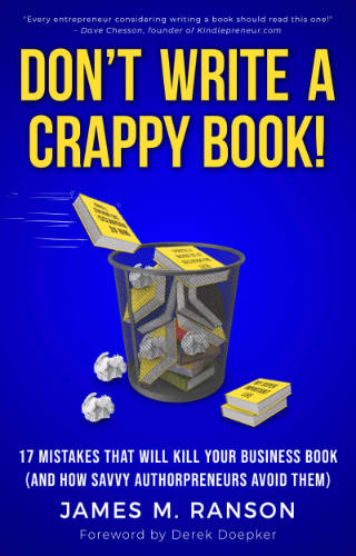book cover for Don't Write a Crappy Book by James Ranson